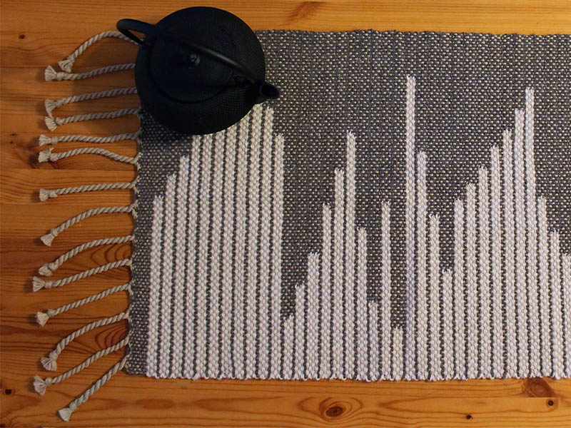 Contemporary Table Runner (free & woven)